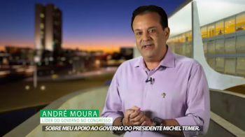 Moura divulga vídeo onde explica apoio incondicional a Temer