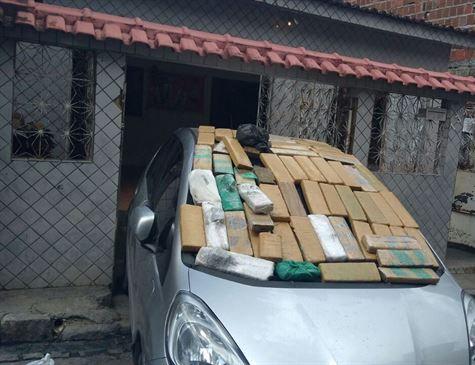 Apreendidos 60 kg de maconha na Zona Norte do Recife