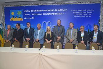 Congresso Nacional da Associação Brasileira de Jornalistas de Turismo – Abrajet, em Aracaju