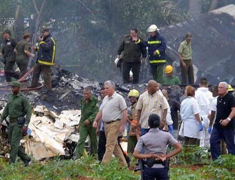 Cuba decreta luto oficial por queda de avião que matou 108 pessoas