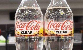 Coca-Cola transparente e