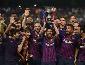 Barcelona vence Sevilla e conquista Supercopa da Espanha