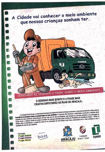 Fundação Brasil Ecoar e Prefeitura de Aracaju lançam concurso de desenhos e frases