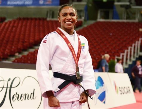 Érika Miranda conquista medalha de bronze no Mundial de judô