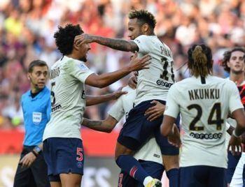 Neymar faz dois e PSG mantém 100% no Francês