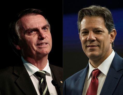 Bolsonaro tem 59% dos votos válidos; e Haddad, 41%, diz BTG Pactual