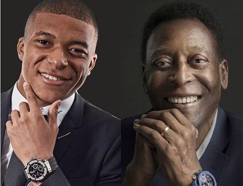 Sem condições de viajar, Pelé adia encontro com Mbappé