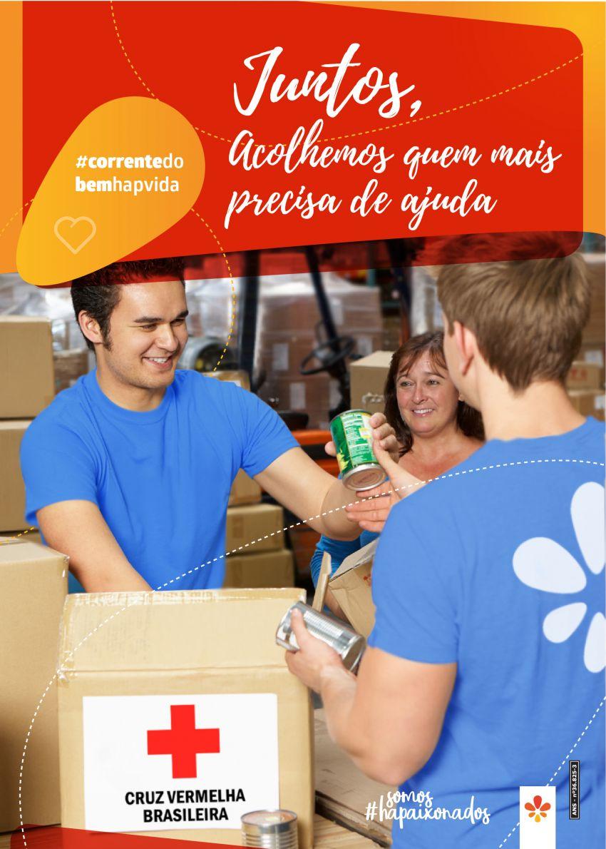 Hapvida lança campanha em parceria com a Cruz Vermelha Brasileira