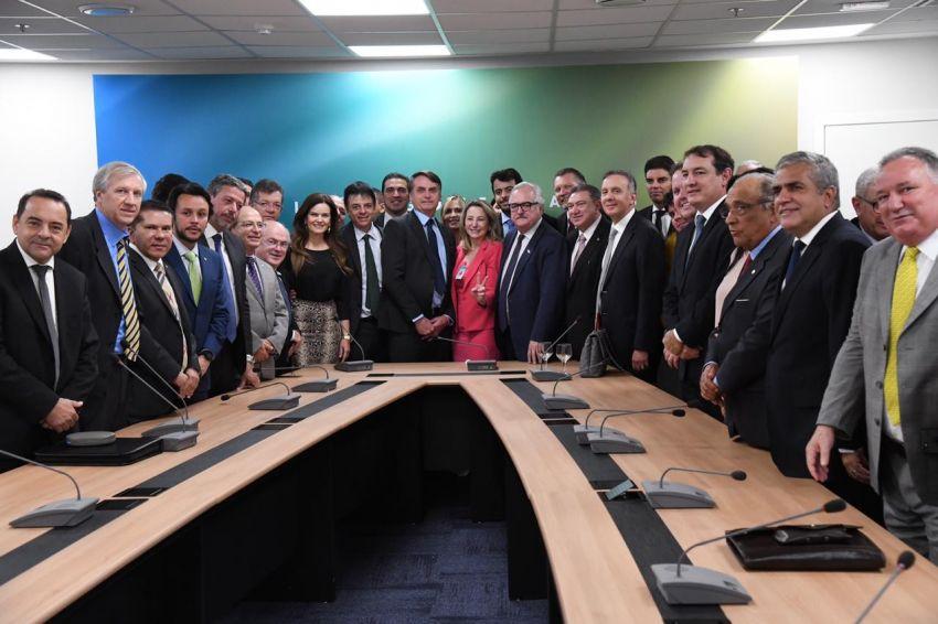 Laércio participa de reunião do Progressistas com Bolsonaro
