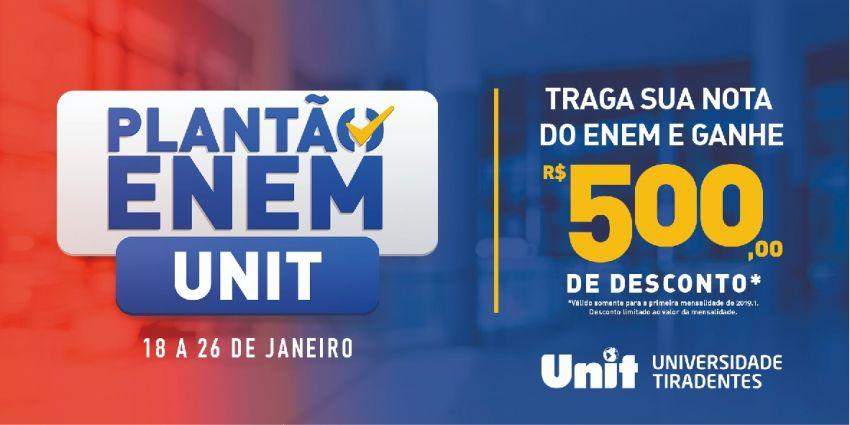 Unit realiza Plantão Enem com oferta de desconto incrível