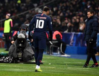 Neymar está fora de jogo contra United pela Champions