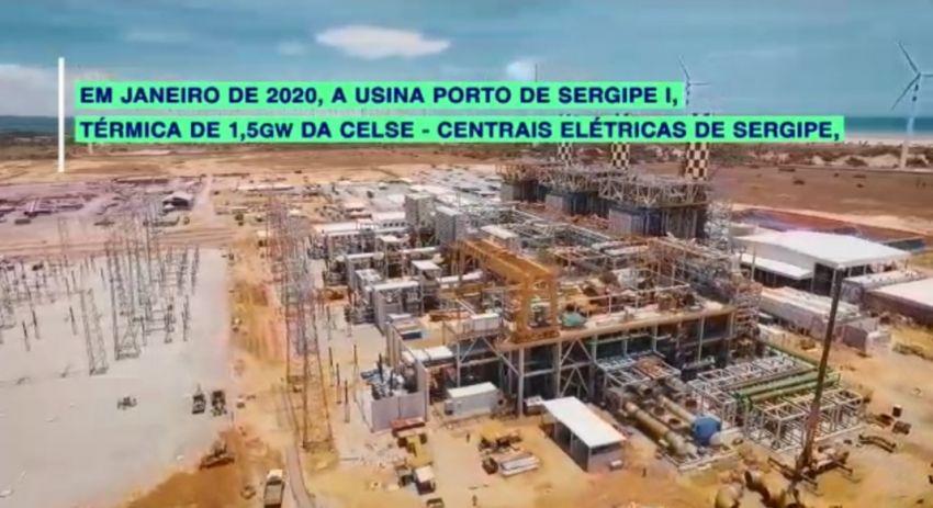 GE instala na usina termoelétrica sergipana uma das mais robustas linhas de transmissão de energia do Brasil