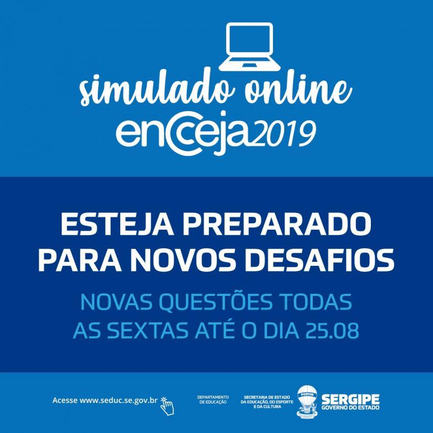 Educação disponibiliza mais duas provas simuladas para candidatos ao Encceja 2019