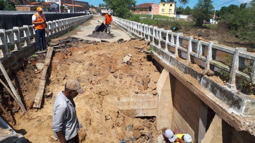 Governo inicia recuperação de ponte em Riachuelo