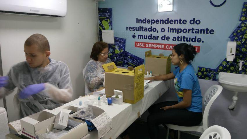 Programa IST/ Aids realiza 264 testes rápidos no Centro da Cidade