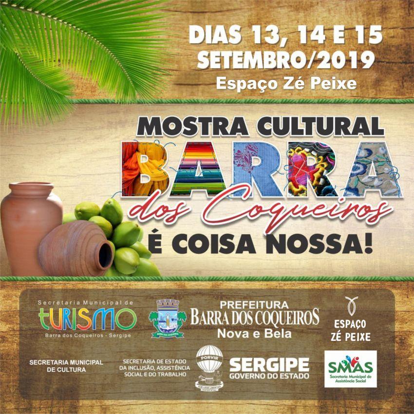 Espaço Zé Peixe recebe Mostra Cultural da Barra dos Coqueiros neste fim de semana