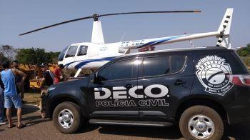 Helicóptero em nome de empresa sergipana é aprendido em operação policial no Mato Grosso do Sul