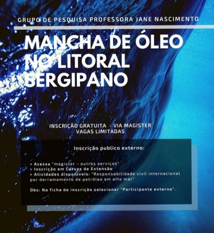 Mancha de óleo no litoral sergipano é tema de conferência