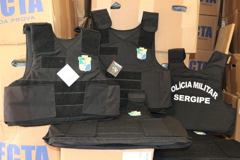 Governo de Sergipe adquire mil coletes balísticos novos para a Polícia Militar