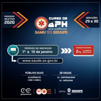 Inscrições para curso do Samu se encerram na próxima sexta, 10
