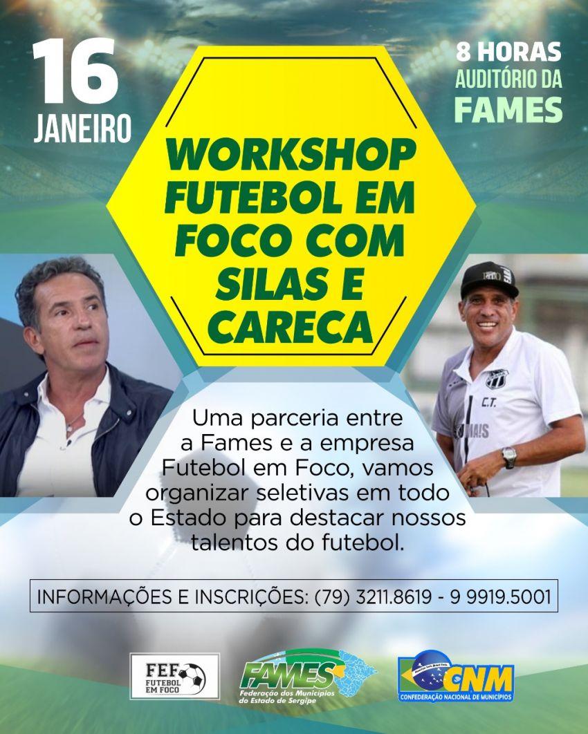 Workshop Futebol em Foco acontecerá nesta quinta-feira, 16