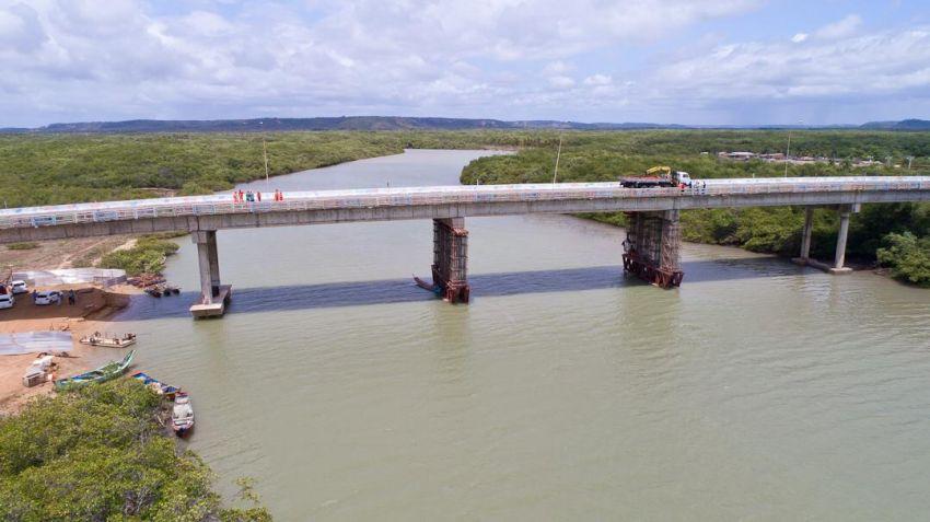 Ponte Pirambu-Barra será liberada parcialmente para trafego de veículos neste sábado, 18
