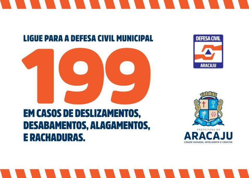 Defesa Civil de Aracaju permanece em alerta para chuvas no final de semana