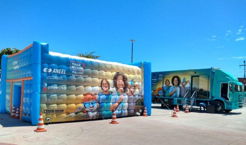 Caminhão interativo da Energisa leva diversão e conhecimento a Maruim e Siriri