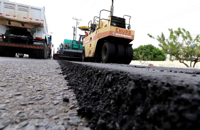 Recapeamento asfáltico: avenidas em obras continuam com interdições nesta quinta-feira, 27