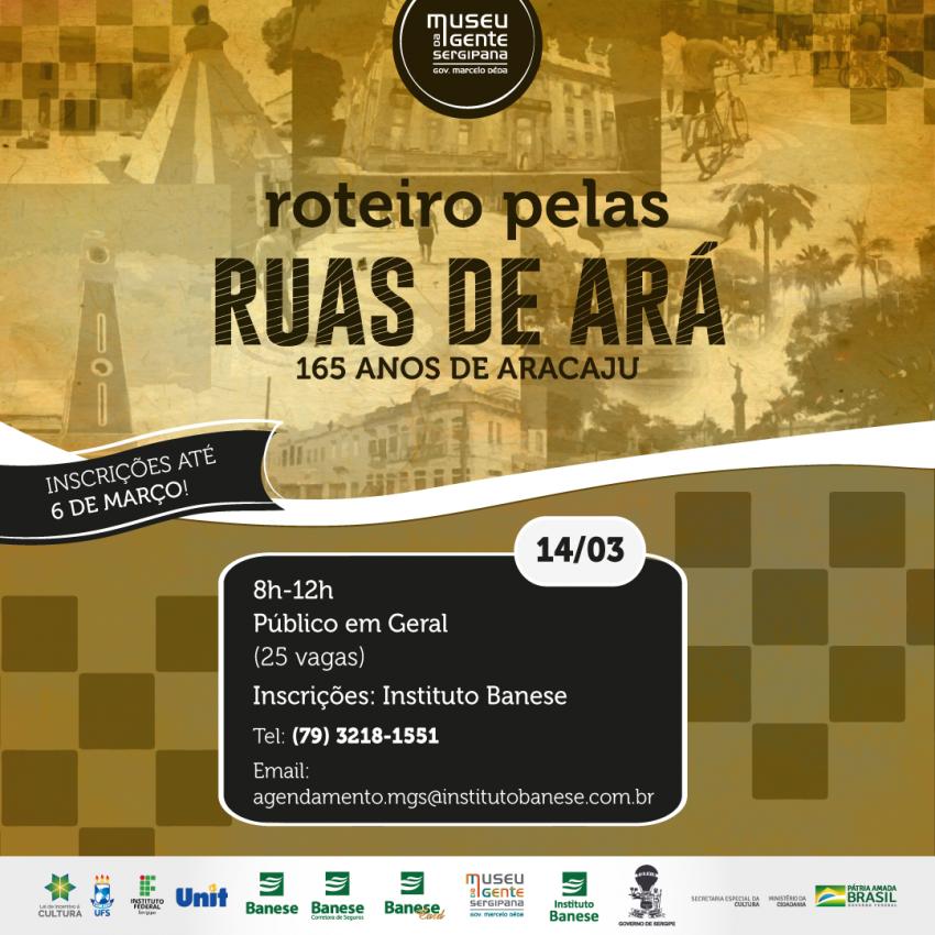 Museu da Gente Sergipana comemora 165 anos de Aracaju com ação educativa