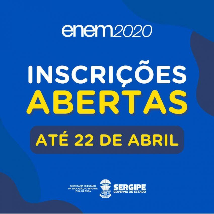 Inscrições para o Enem 2020 finalizam nesta sexta-feira, 22