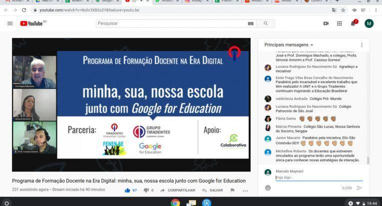 Grupo Tiradentes oferta formação digital para escolas sergipanas