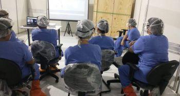 Unit auxilia capacitação de equipe de Enfermagem de Hospital de Campanha