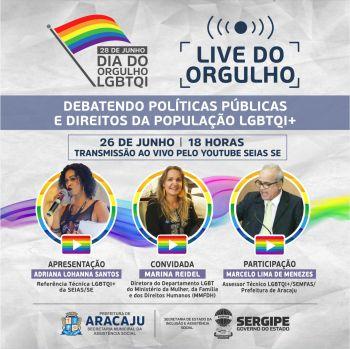 """Governo debate políticas públicas LGBTQI+ em """"LIVE do Orgulho"""", nesta sexta-feira"""