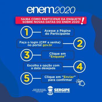 Enem 2020: enquete para escolha da nova data do exame segue até dia 30