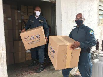Servidores da Secretaria de Segurança Pública recebem EPIs para reforçar a proteção no combate à Covid-19