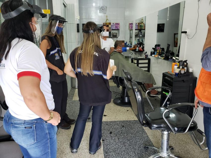 Vigilância Sanitária de Aracaju fiscaliza retomada das atividades de salões e barbearias
