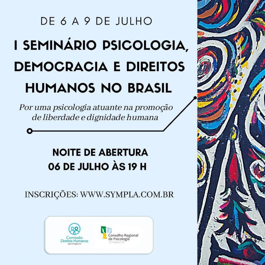 Conselho de Psicologia realiza webnário sobre Psicologia, Democracia e Direitos Humanos