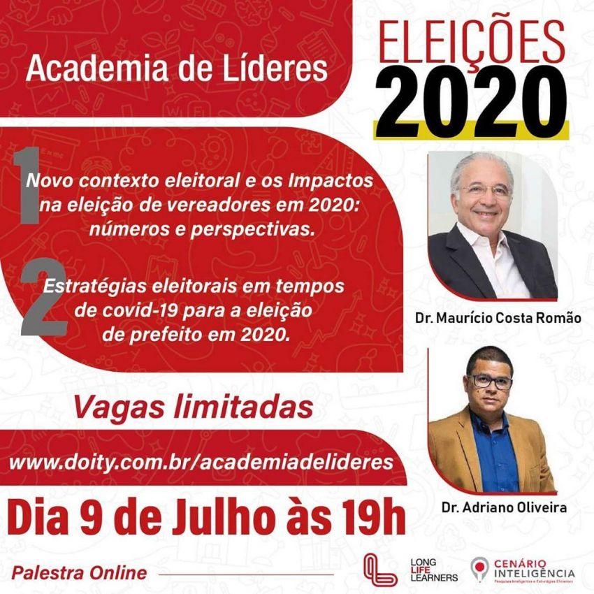 Academia de Líderes traz palestras virtuais sobre Eleições: contexto atual para candidatos e profissionais de Marketing