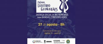 Estado oficializa entrega de 48 instrumentos para Bandas Filarmônicas