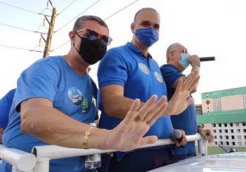 Com apoio de Fábio Henrique e Fábio Mitidieri, Adilson Júnior, faz carreata e campanha ganha força em São Cristóvão