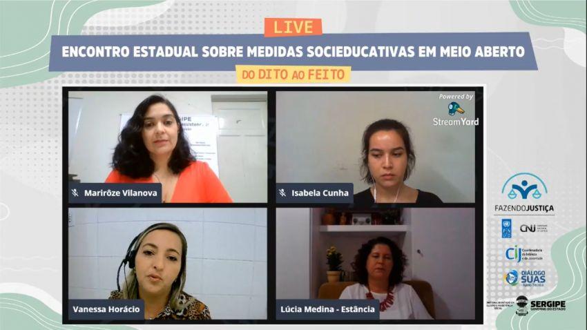 Redes socioeducativa e socioassistencial discutem medidas em meio aberto em Encontro Estadual Virtual