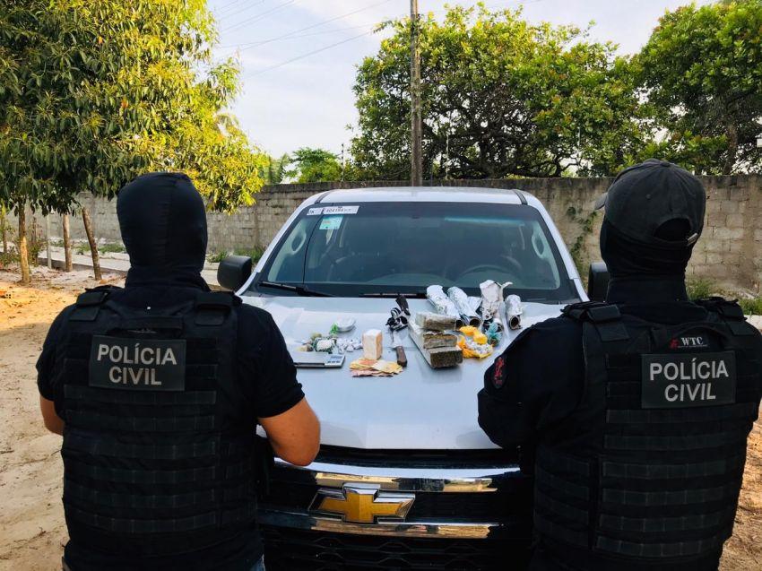 Polícia Civil de Itaporanga D'Ajuda desarticula trio que praticava tráfico de drogas na região