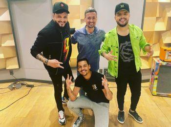 Devinho Novaes grava música com Diego e Victor Hugo, fecha contratos e encerra turnê em São Paulo