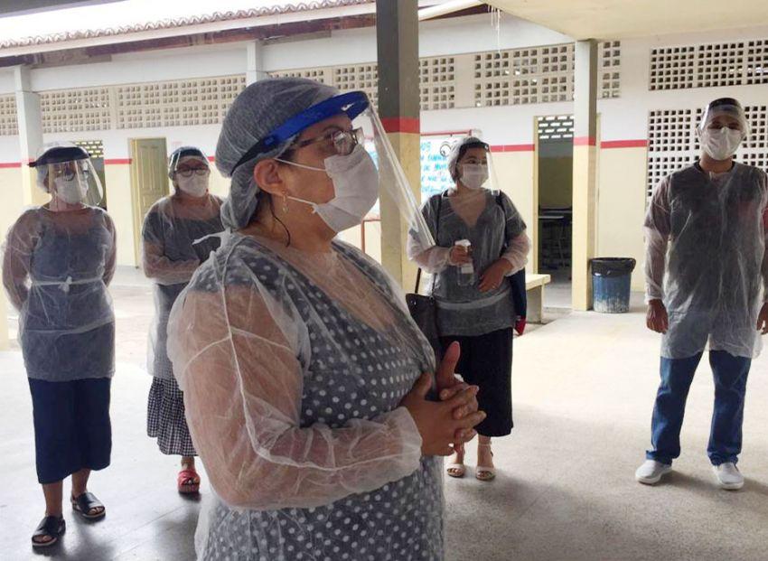 Colégio Estadual Barão de Mauá retoma aulas presenciais com acolhimento e seguindo os protocolos de segurança
