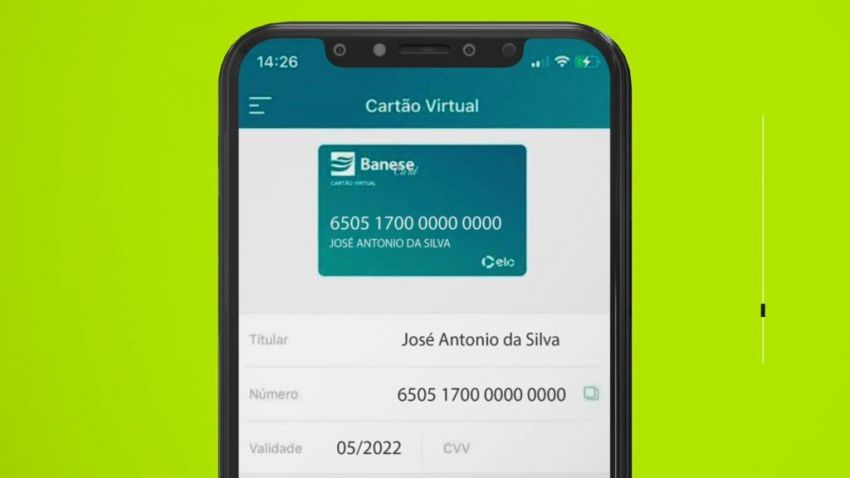 Banese Card registra aumento de 443% no uso do cartão virtual