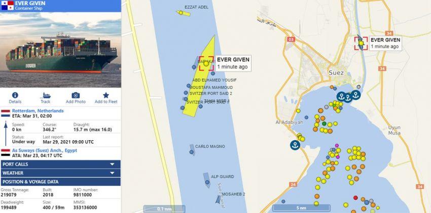 Meganavio encalhado no Canal de Suez volta a flutuar após 6 dias