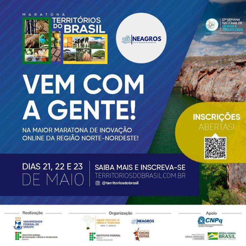 Maratona Territórios do Brasil premiará ideias inovadoras na UFS Sertão