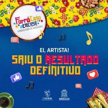 Prefeitura define artistas que vão se apresentar no Forró Caju em Casa 2021