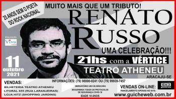 Show 'Renato Russo – Uma Celebração' será realizado dia 11 de outubro